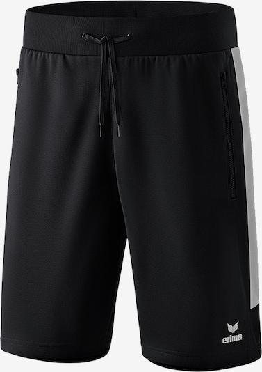 ERIMA Shorts in schwarz / weiß: Frontalansicht