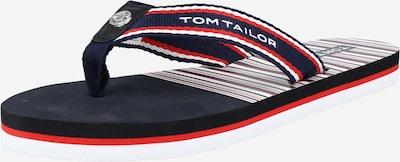 TOM TAILOR Zehentrenner in navy / hellrot / weiß, Produktansicht