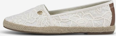 TOM TAILOR Espadrilles in de kleur Crème / Wit, Productweergave