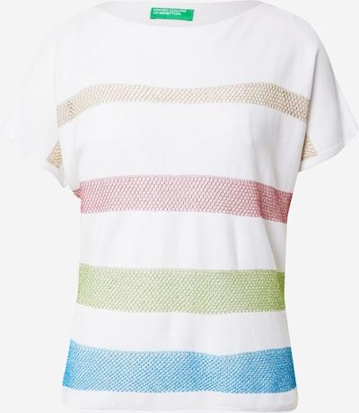 Pulover UNITED COLORS OF BENETTON pe maro cămilă / albastru / verde deschis / roz pitaya / alb, Vizualizare produs