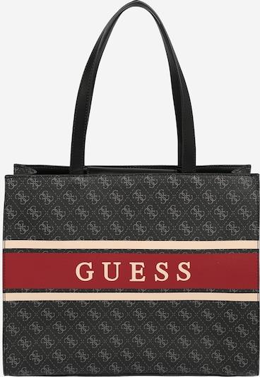 GUESS Nakupovalna torba | rdeča / črna barva, Prikaz izdelka
