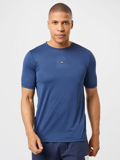Tommy Sport T-Shirt fonctionnel en bleu marine / rouge clair / blanc: Vue de face