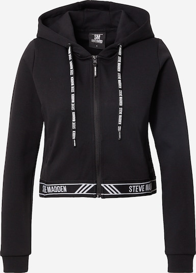 STEVE MADDEN Sweatjacke in schwarz / weiß, Produktansicht