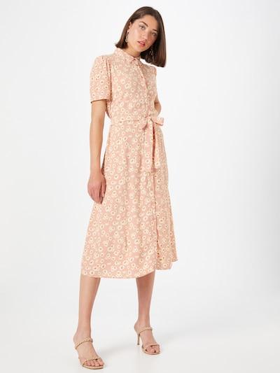 PIECES Kleid 'MILLER' in beige / braun / rosé, Modelansicht