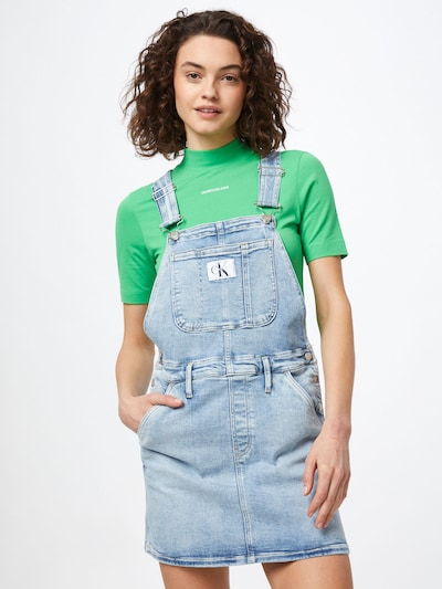 Calvin Klein Jeans Laclová sukně 'DUNGAREE' - modrá džínovina, Model/ka