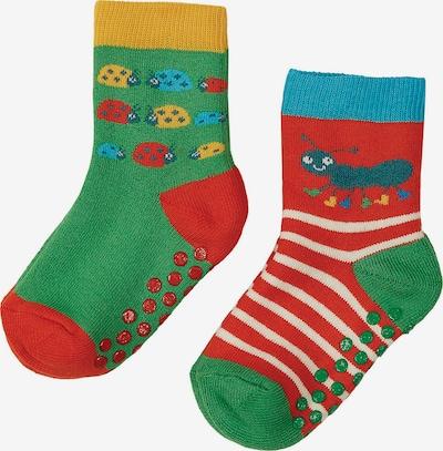 Frugi Socken 'Grippy' in grün / hummer, Produktansicht