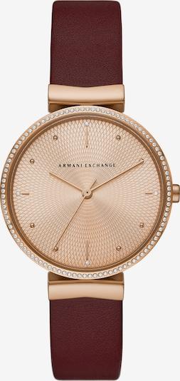 ARMANI EXCHANGE Uhr in rosegold / rot, Produktansicht