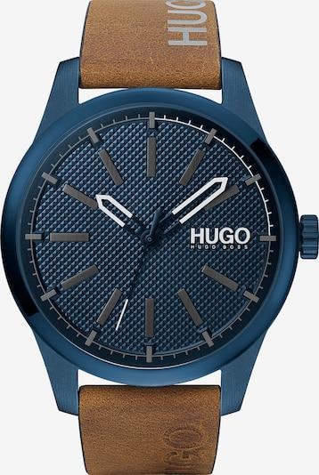 HUGO Uhr in blau / braun / mischfarben, Produktansicht