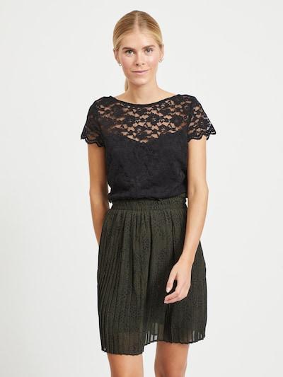 VILA Blusenshirt 'VIKALILA' in schwarz, Modelansicht