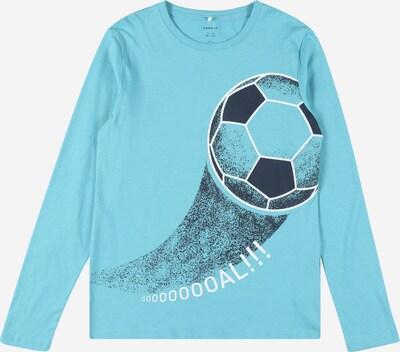 NAME IT T-Shirt 'DIRGO' en aqua / noir / blanc, Vue avec produit