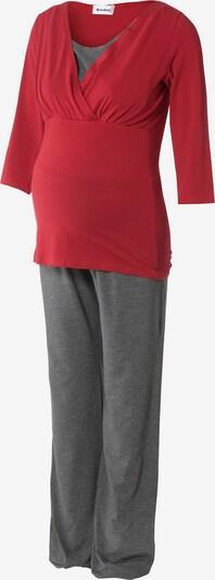 Bebefield Pyjama in grau / rot, Produktansicht