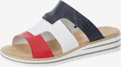 RIEKER Pantolette in navy / rot / weiß, Produktansicht