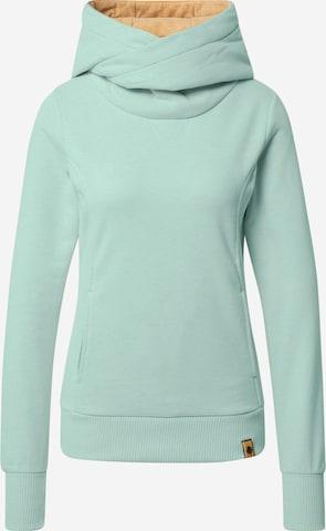 Fli Papigu Sweatshirt 'Schönste Frau in Stadt' in Green