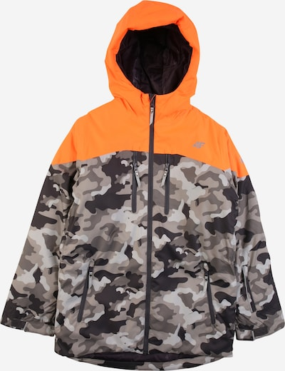 4F Outdoor jacket in smoke grey / light grey / dark grey / orange, Item view