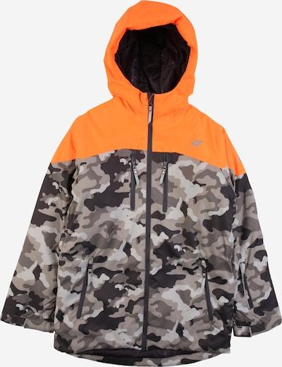 4F Outdoor jacket in Smoke grey / Light grey / Dark grey / Orange, Item view