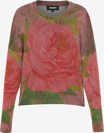 Desigual Sweater 'GRANADA' in Green / Red / Light red, Item view