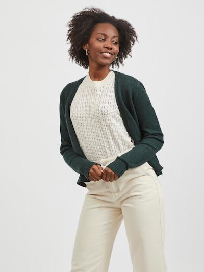 VILA Gebreid vest 'Ril' in de kleur Donkergroen, Modelweergave