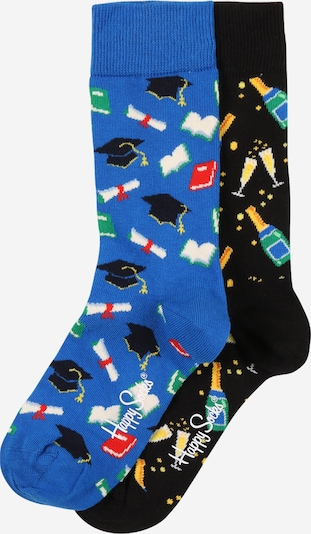 Happy Socks Socken 'Graduation' in blau / mischfarben / schwarz, Produktansicht