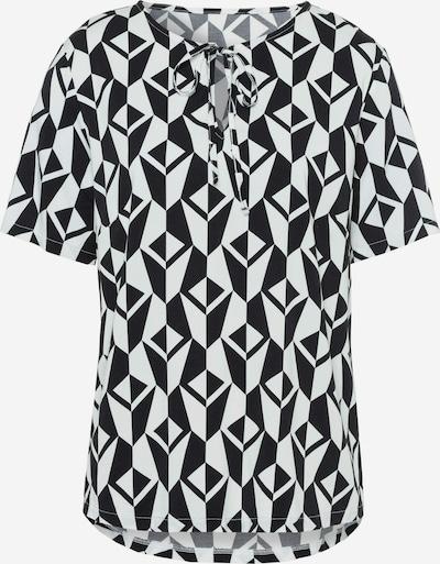 Uta Raasch Bluse halbarm in mischfarben / schwarz / weiß, Produktansicht