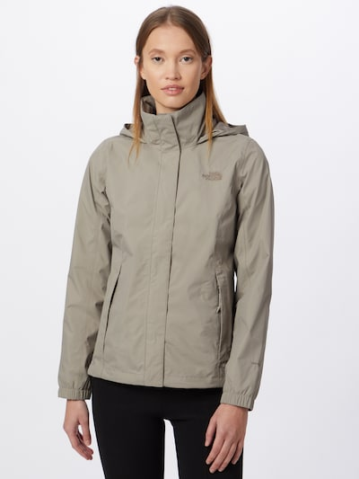 THE NORTH FACE Outdoorjacke 'Resolve' in greige: Frontalansicht