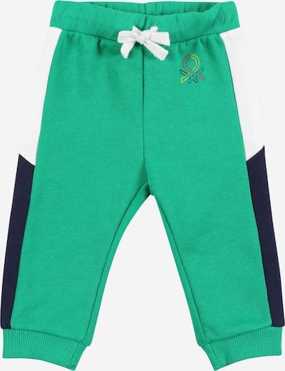 UNITED COLORS OF BENETTON Pantalon en bleu marine / vert / blanc, Vue avec produit