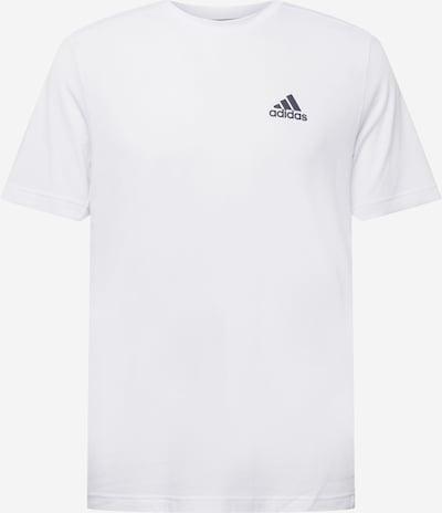 ADIDAS PERFORMANCE Функционална тениска в черно / бяло: Изглед отпред