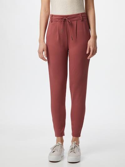 ONLY Pantalon 'Poptrash' en rouge pastel, Vue avec modèle