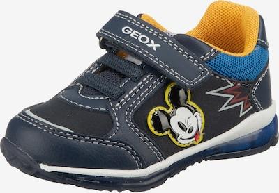 GEOX Sneaker in blau / navy / kobaltblau / mischfarben / orange, Produktansicht