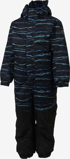 COLOR KIDS Schneeanzug 'Klement' in blau / schwarz: Frontalansicht