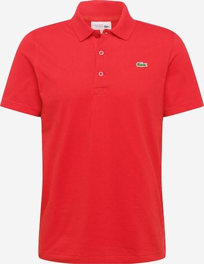Lacoste Sport Shirt 'OTTOMAN' in dunkelgrün / feuerrot / schwarz, Produktansicht