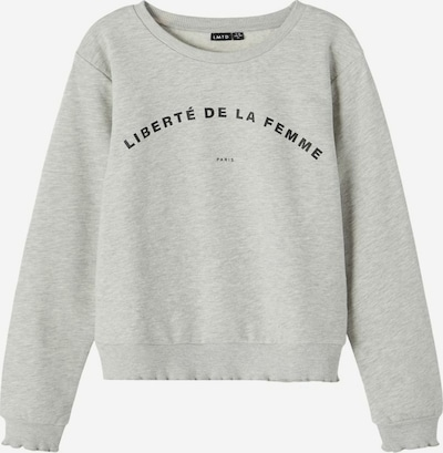 NAME IT Sweatshirt 'KARIS' in de kleur Lichtgrijs / Zwart, Productweergave
