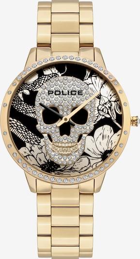 POLICE Uhr in gold / schwarz, Produktansicht