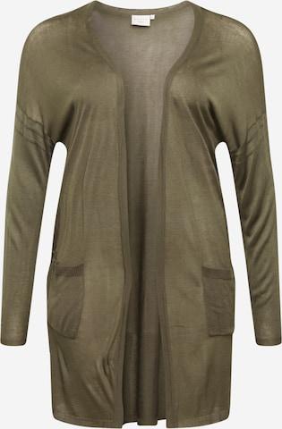 KAFFE CURVE Gebreid vest 'Sandy' in Groen