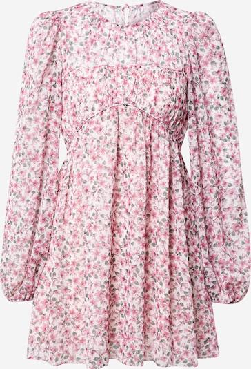 Forever New Kleid in dunkelgrün / pink / weiß, Produktansicht