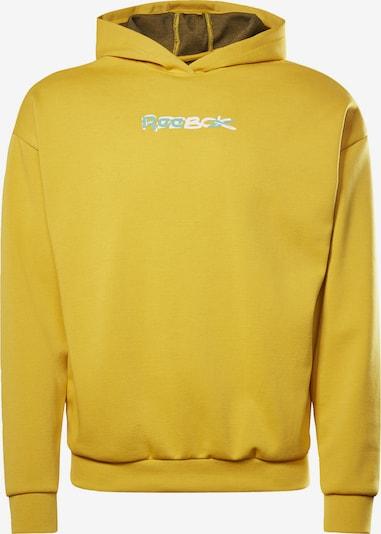 REEBOK Sweatshirt in gelb / weiß, Produktansicht