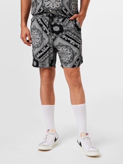 Redefined Rebel Kalhoty 'Bane' - černá / bílá, Model/ka
