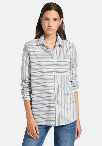 DAY.LIKE Bluse in hellblau / dunkelblau / weiß, Modelansicht