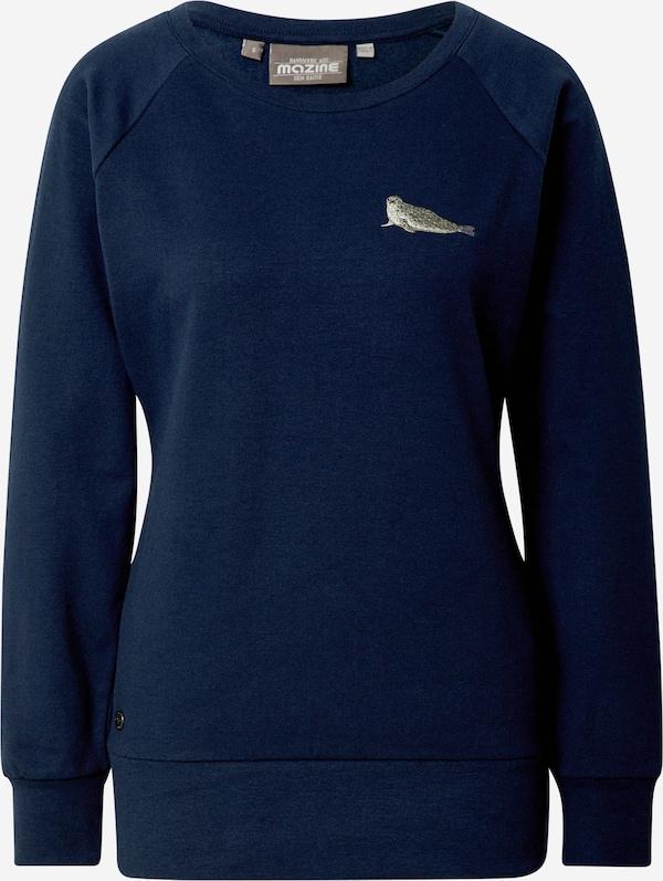 mazine Sweatshirt 'Marla' in Navy | ABOUT YOU