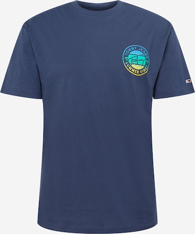 Tommy Jeans T-Shirt en bleu / bleu marine / jaune / jade, Vue avec produit
