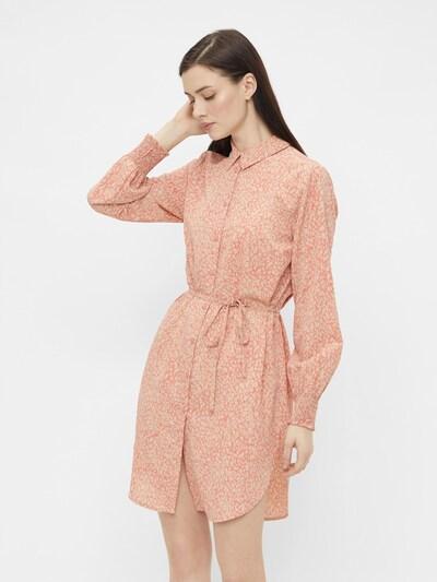 PIECES Kleid 'Gilberta' in kitt / koralle, Modelansicht
