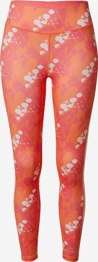 DELICATELOVE Спортен панталон 'Nadi' в оранжево / тъмно коралово / бяло, Преглед на продукта