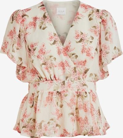 VILA Bluza 'Kathryn' u maslinasta / prljavo roza / bijela, Pregled proizvoda