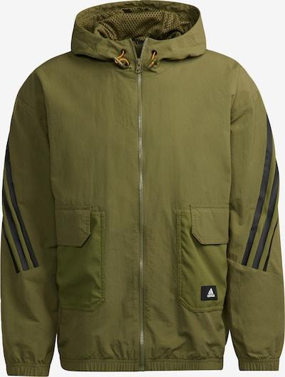 ADIDAS PERFORMANCE Sportjas in de kleur Groen / Zwart, Productweergave
