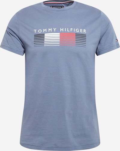 TOMMY HILFIGER Тениска в нощно синьо / гълъбово синьо / червено / бяло, Преглед на продукта