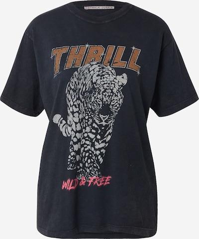 CATWALK JUNKIE Shirts 'THRILL' in chamois / basaltgrau / hellgrau / pink, Produktansicht