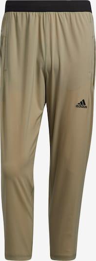 ADIDAS PERFORMANCE Sporthose in hellgrün / schwarz, Produktansicht