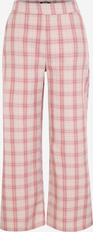 Missguided Petite Pants 'GINGHAM' in Pink