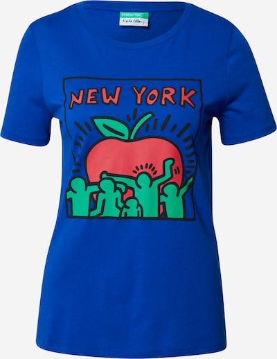 UNITED COLORS OF BENETTON Koszulka w kolorze kobalt niebieskim: Widok z przodu