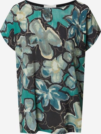 Cartoon Shirt in jade / mischfarben / schwarz, Produktansicht