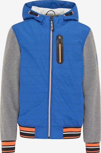 Petrol Industries Tussenjas in de kleur Royal blue/koningsblauw / Grijs / Sinaasappel / Zwart, Productweergave